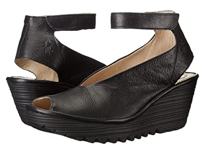 FLY LONDON Yala (Black Mousse) Women