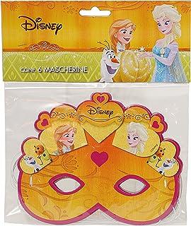 Ciao 29013.6–Lot de 6Masques Disney Reine des Neiges Halloween, Orange