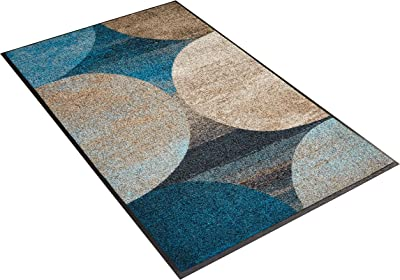 wash+dry Mat Polyamide Blue 75 x 120 cm
