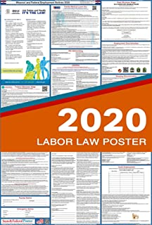 2019 Missouri State and Federal Labor Law Poster - Laminated 27