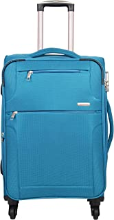 Murano Polyester 24 inches T Blue Hardsided Cabin Luggage (9120013_M)