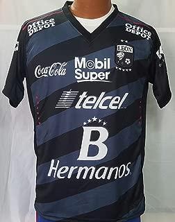New! Liga MX Club Deportivo Leon Black Jersey 2016-2017 (S)