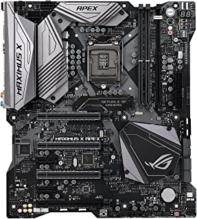 ASUS ROG Maximus X APEX LGA1151 DDR4 DP HDMI M.2 Z370 EATX Motherboard with 5G LAN and USB 3.1 for 8th Generation Intel Co...