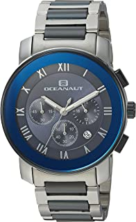 Oceanaut Men's Riviera Analog-Quartz Watch with Stainless-Steel Strap, Two Tone, 22 (Model: OC0332)