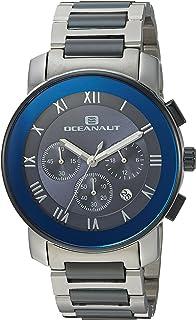 ساعة اوشينت للرجال ريفيرا كوارتز مع حزام من الستانلس ستيل، بلونين 22 (OC0332)