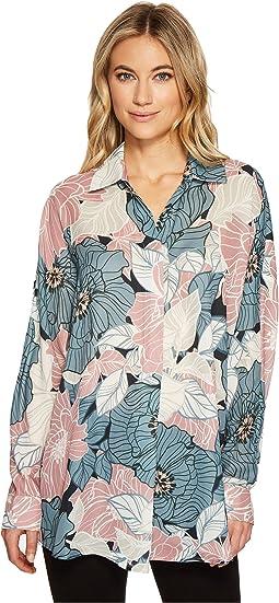 CATHERINE Catherine Malandrino - Long Sleeve Collared V-Neck Shirt