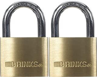BRINKS 171-40202 40mm Solid Brass Keyed Lock (2-Pack), 2 Pack