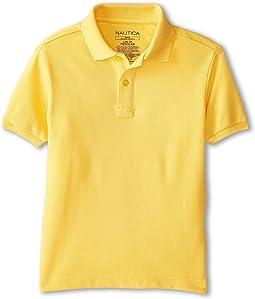 Short Sleeve Pique Polo (Little Kids)