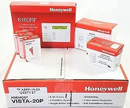 Honeywell Vista 20P Wireless Kit with a 6160RF Keypad, One 5800PIR-Res Motion Sensor, Three 5800MINI Door/Window Contacts, and a WAVE2 Siren