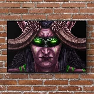 Illidan Stormrage World of WarCraft Painting - Art Print - Wall Decor - Poster - Gift (4x6-18x24 IN)