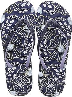 United Colors of Benetton Women's Flip Flops Navy Slippers- 7 UK/India (40 EU) (19P8CFFPL312I)