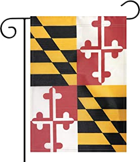 Garden Flag Maryland State Flag Garden Flag,Garden Decoration Flag,Indoor and Outdoor Flags,Celebration Parade Flags, MD State Party Events Celebration,Double-Sided.