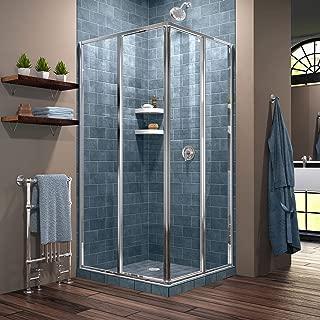 DreamLine Cornerview 34 1/2 in. D x 34 1/2 in. W x 72 in. H Framed Sliding Shower Enclosure in Chrome, SHEN-8134340-01