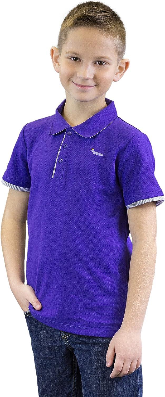 Toddler Boys' Purple Pique Polo Shirt - 100% Pima Cotton Purple Tennis Shirt