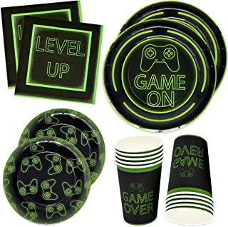 Gift Boutique Video Gaming Party Plates Supplies Set 24 9