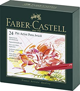 ファーバーカステル ピットアーティストペンセット スタジオボックス24色セット 167147 [日本正規品]