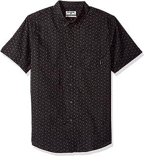 BILLABONG Men's Sundays Mini Short Sleeve Top Button Down Shirt