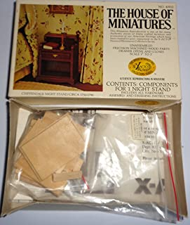 The House Of Miniatures - Chippendale Night Stand / Circa 1750-1790 - Doll House Furniture #40012