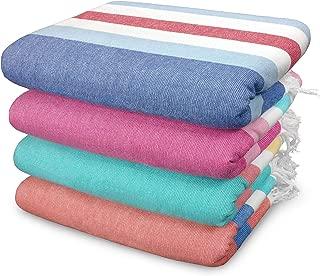Kaufman - SAND FREE Fouta Stripe Towel set - 4 Pack Large 36