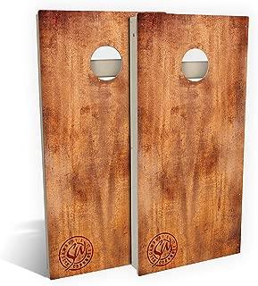 Slick Woody's All Weather Composite 4'x2' Regulation Burnt Wood Cornhole Boards Set;