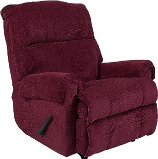 Flash Furniture Contemporary Kelly Burgundy Super Soft Textured Microfiber Rocker Recliner