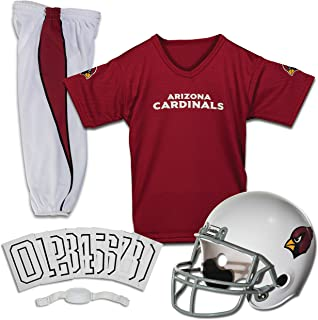 Franklin Sports Deluxe NFL-Style Youth Uniform – NFL Kids Helmet, Jersey, Pants, Chinstrap and Iron on Numbers Included – Football Costume for Boys and Girls