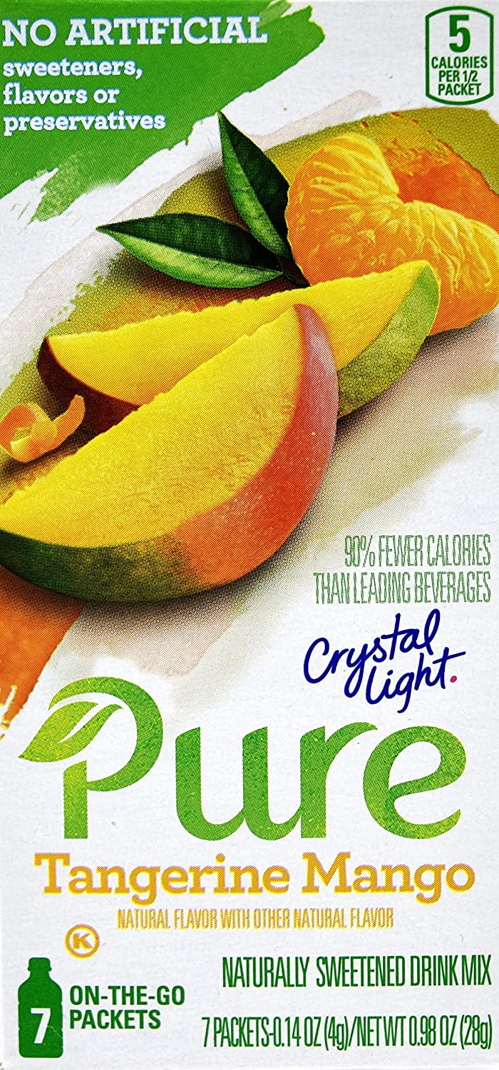 Crystal Light Pure Tangerine Fashionable Mango On Go 7-Packet The Drink Ranking TOP7 Mix