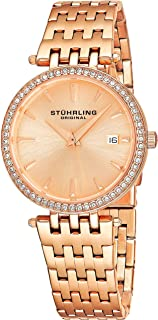 Stuhrling Original Women's Soiree Swiss Quartz Swarovski Crystals Date Watch 579 Series