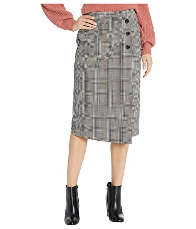 Sanctuary Reality Check Pencil Skirt (Earthstone Check) Women