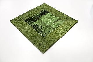 India Cojín 60x 60cm Funda de cojín almohada funda India oriental, verde, 60 x 60 cm