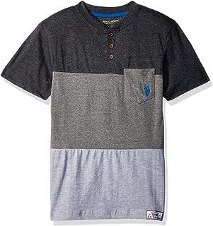 Boys' Short Sleeve Color Block Henley T-Shirt