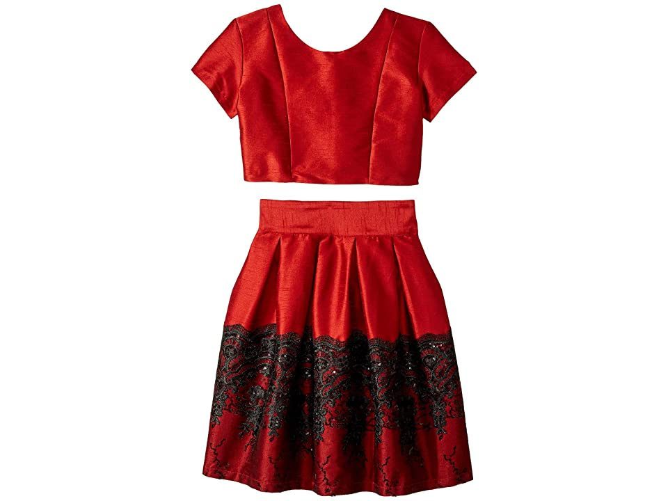 fiveloaves twofish Holiday Beauty Dress Set (Big Kids) (Red) Girl's Dress