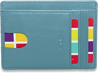 SADDLER Womens Luxurious Leather Credit Card and ID Holder   Slim Minimalist Wallet   Designer Credit Card Wallet for Ladi...