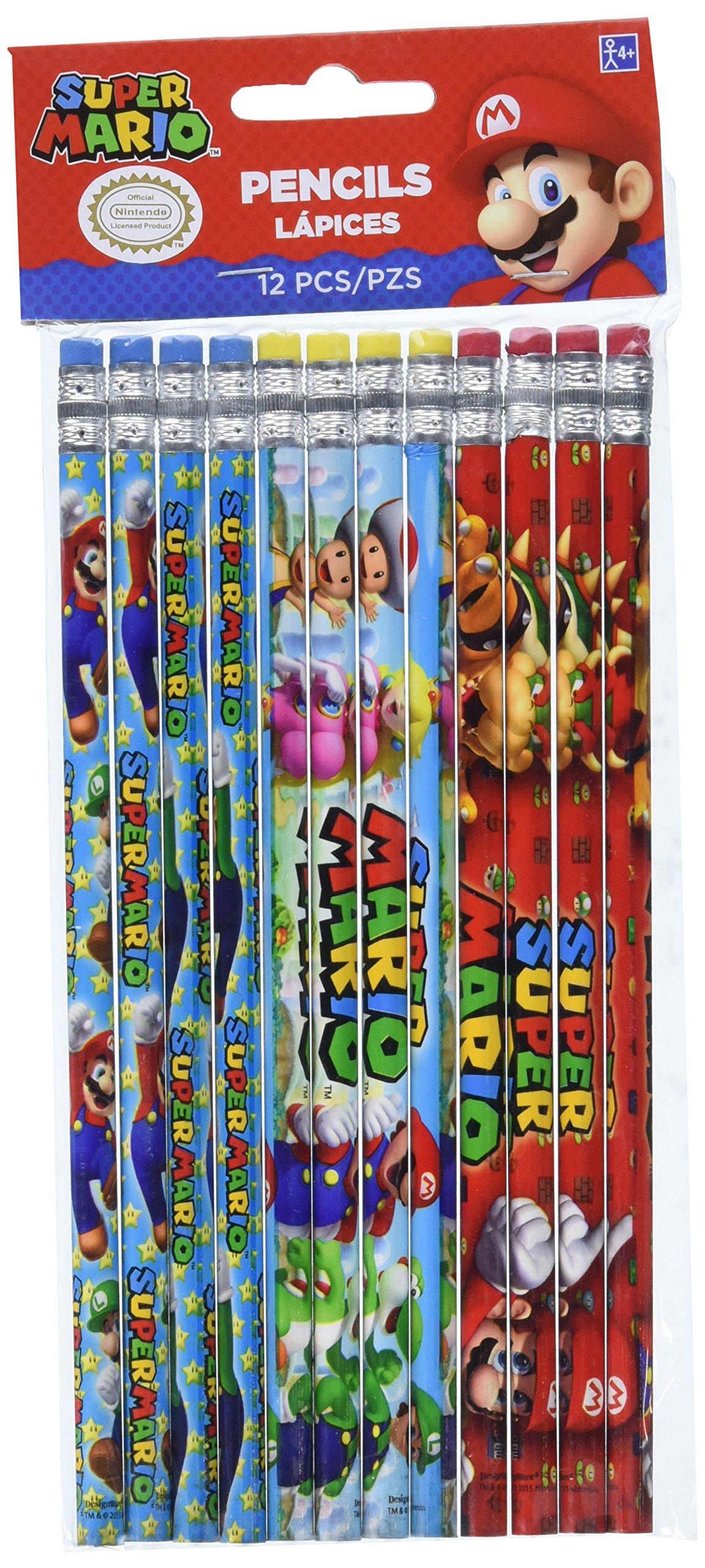 Amscan 396610 – lápices de Super Mario: Amazon.es: Juguetes y juegos