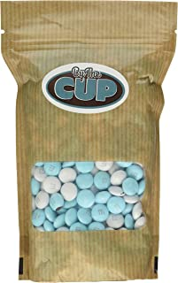 Light Blue & White Milk Chocolate M&M's Candy 1LB Bag