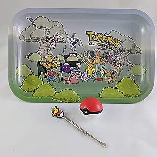 Tokemon Pokemon 420 Party Edition Metal Smoking Rolling Tray Large Bundle Kit Pikachu Stick Pokeball Silicone