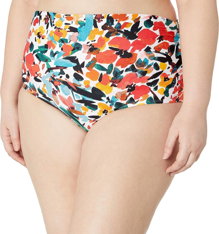 Anne Cole Women's High Waist Swim Bottom with Side Shirring