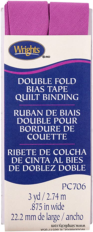 Wrights Radiant Orchid Double Fold Quilt Binding 7/8