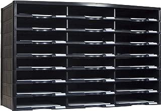 Storex Modular 24-Compartment Literature Organizer, Black