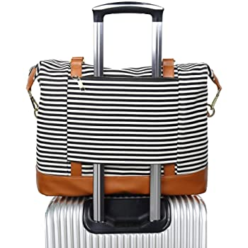 Decorative Valentine Travel Carry-on Luggage Weekender Bag Overnight Tote Flight Duffel In Trolley Handle
