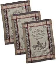 DII CAMZ35257 French Style Tabletop Collection, 20x28, Dishtowel S/3 : Rose De Provence
