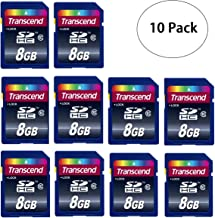 10 PACK Transcend TS8GSDHC10 10 x 8GB SDHC Class 10 Flash Memory Card