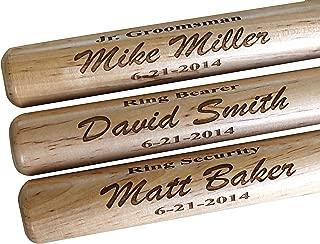 Custom Personalized Mini Baseball Bat - Ring Bearer Groomsmen Gift - Monogrammed and Engraved for Free