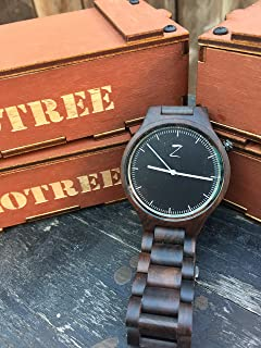 The BANDOOU Series Diver watch, men and women, Sports watch, Wooden watch with wooded bracelet, ECO Friendly design, by ZoTree Designs