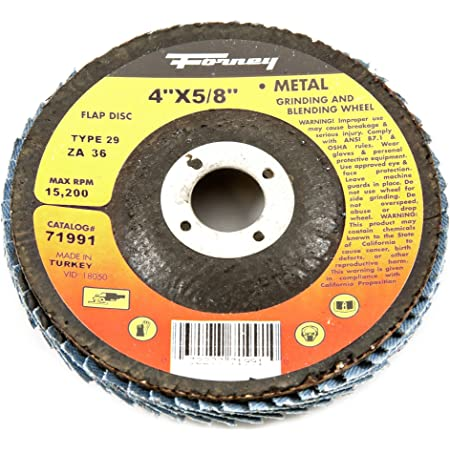 """Details about  /115mm 4.5/"""" 36 Grit Zirconium Flap Disc 13300 Operating Speed 22.2mm Bore"""