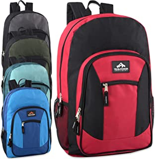 Wholesale Trailmaker 19 Inch Multi Pocket Backpack in Bulk 24 Packs (Boys Assorted)