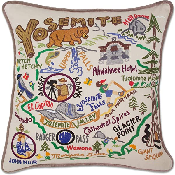 Catstudio Yosemite Embroidered Decorative Throw Pillow Beautiful Award Winning Home Decor Artwork Great For The Living Family Bed Rooms