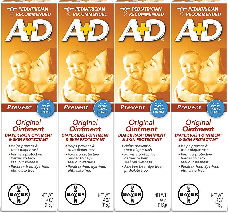 A D Original Diaper Ointment 4 Ounce Pack Of 4