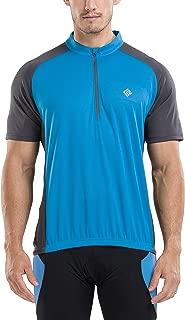 KORAMAN Men's Reflective Short Sleeve Cycling Jersey with...