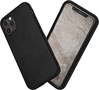 RhinoShield Case for iPhone 11 Pro SolidSuit - Shock Absorbent Slim Design Protective Cover with Premium Matte Finish 3.5M/11ft Drop Protection - Leather-Black